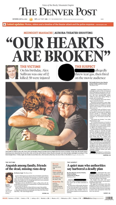 Aurora Shooting Headline